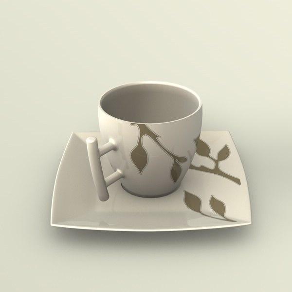 free 3ds model espresso cup