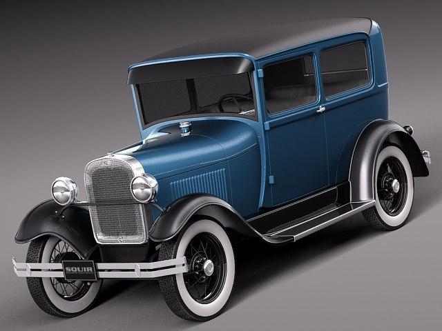 3dsmax classic antique sedan 1931
