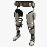 Futuristic Soldier Legs Armor
