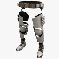 3ds max futuristic soldier leg armor
