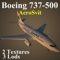 3d boeing 737-500 aew model