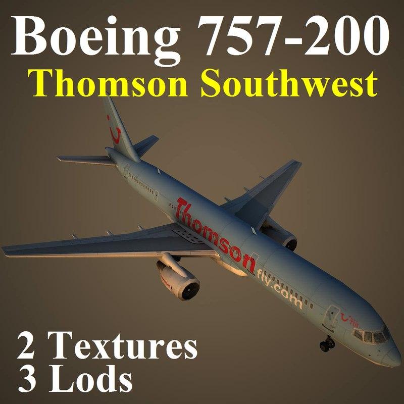 boeing 757-200 tom 3d ma