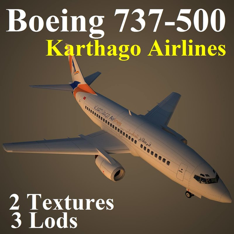 boeing 737-500 kaj 3d max
