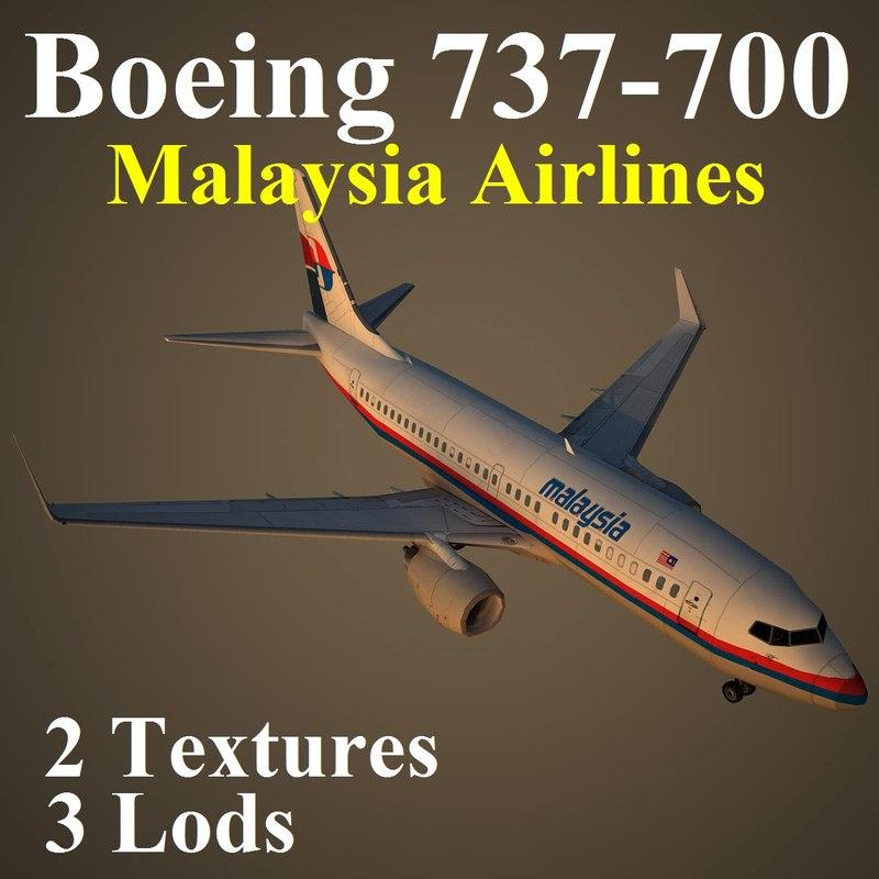 boeing 737-700 mas 3d model