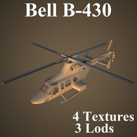 3ds max bell b-430 low-poly