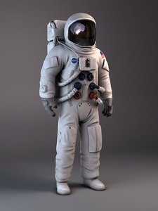3d max nasa astronaut apollo 11
