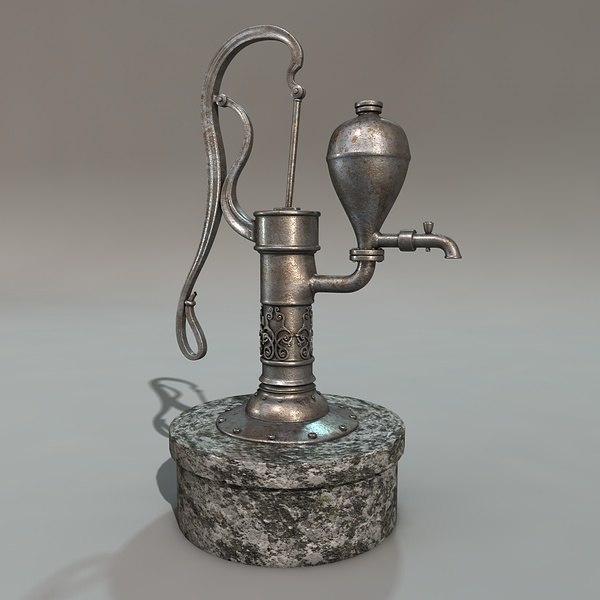 antique pump 3d model