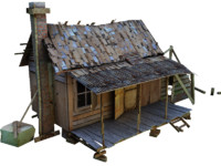 3d old village house model