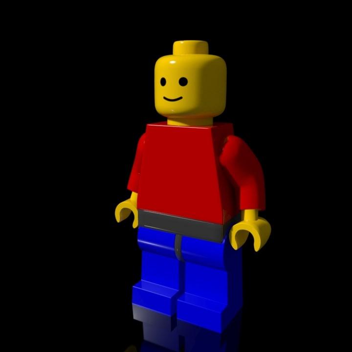 lego minifigure rigged 3d model