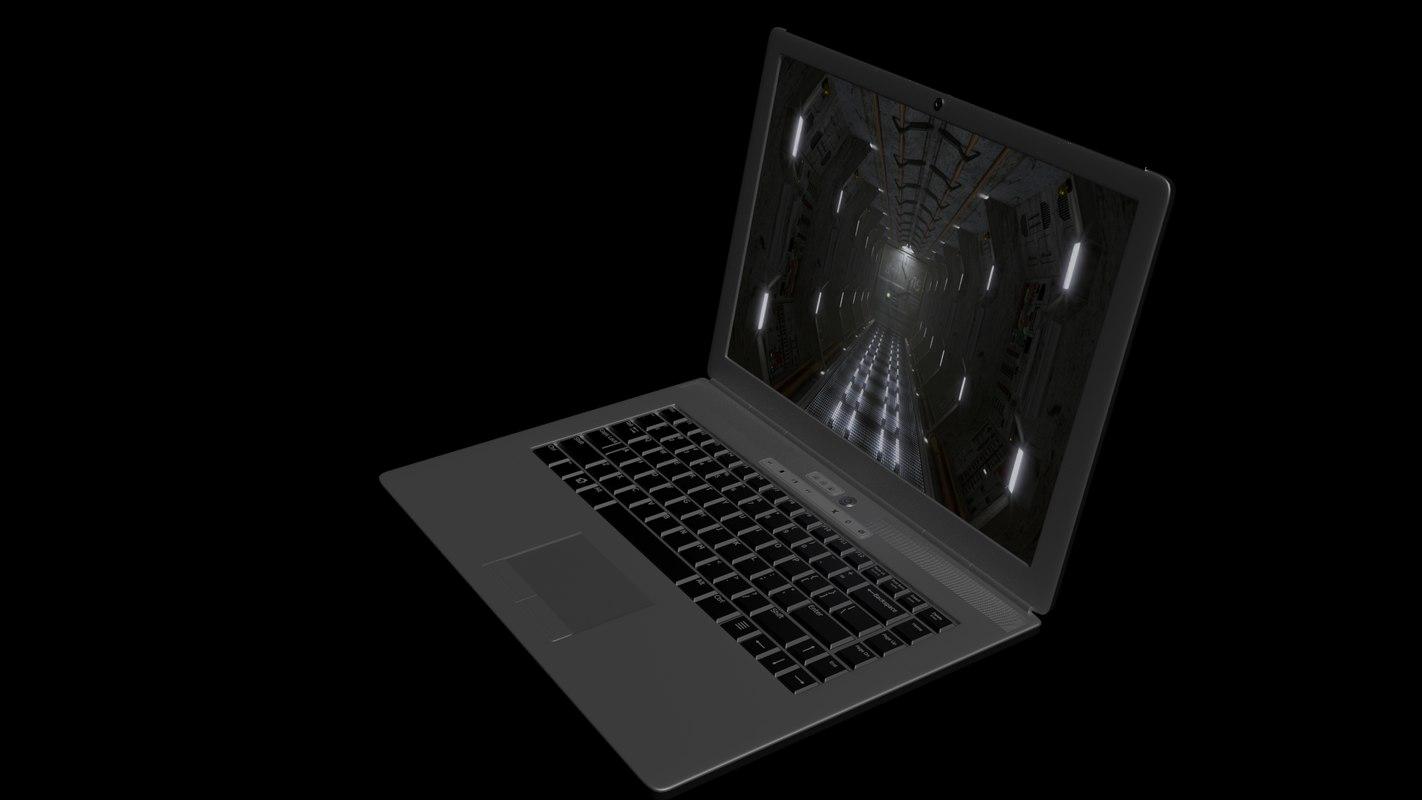 generic laptop 3d obj