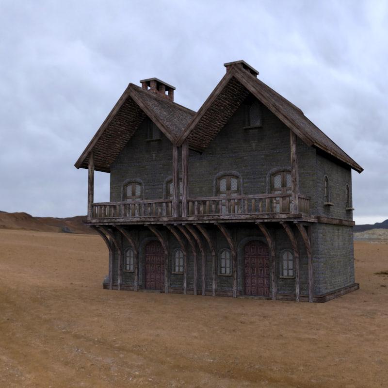 3d house fantasy model