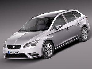 2013 2014 seat leon 3d model