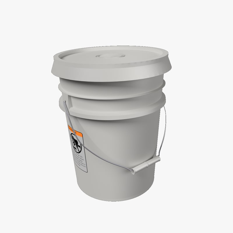 3d model realistically bucket