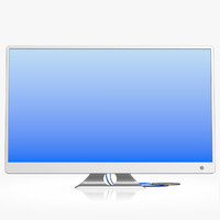 3d generic digital widescreen monitor