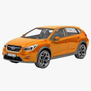 3d model subaru xv 2012