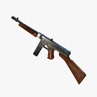 Thompson Gun 1928 A1 Real-time