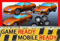 Toyota Supra (3 tuning configurations, game ready) + BONUS - 5 variations of tires