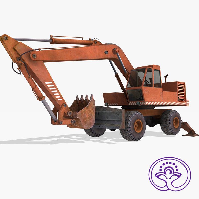 ussr excavator eo4321 3d 3ds