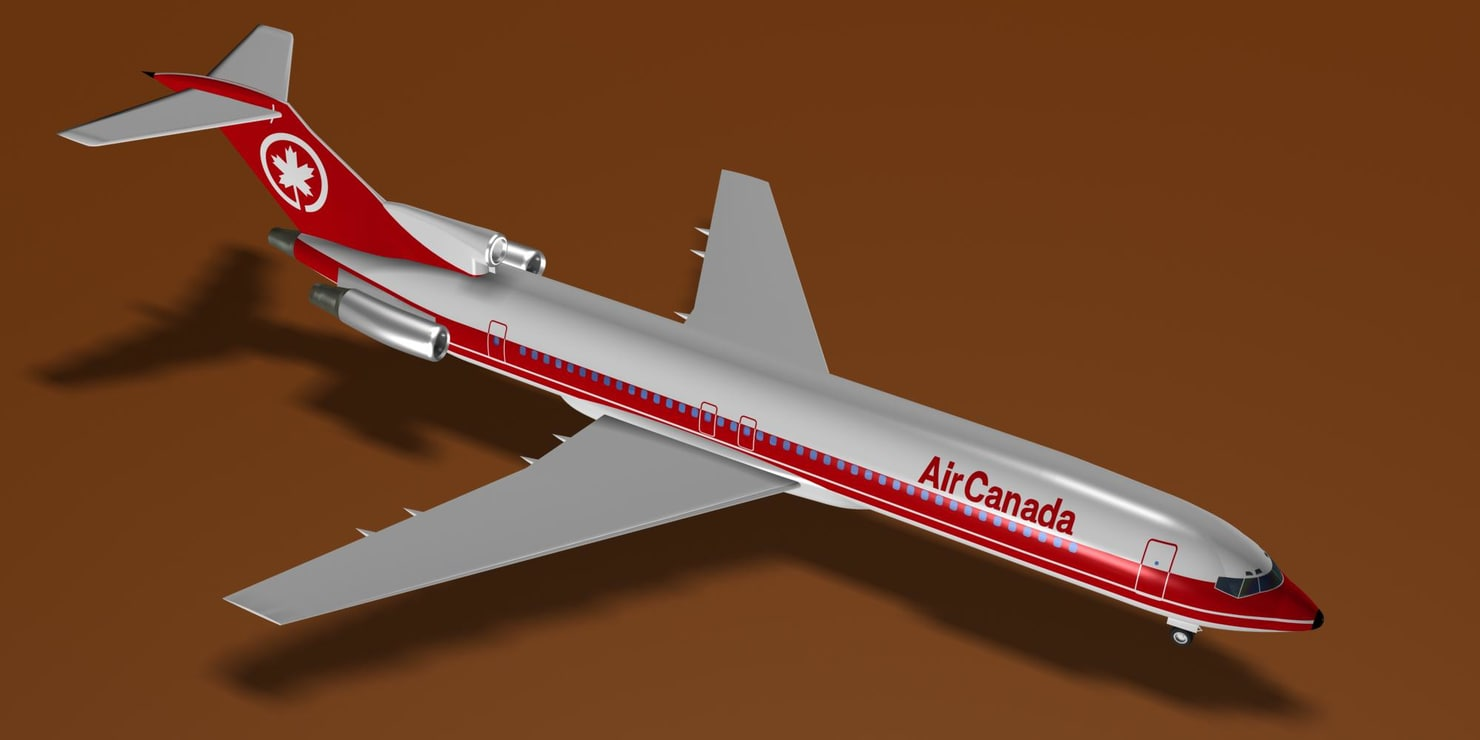 air 727-233 727 3d model