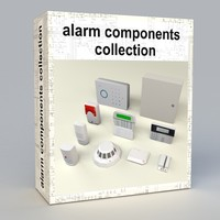 3d model electronic alarm components