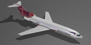 british air com 727-230 3d max