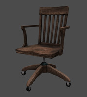 old office chair 3d model
