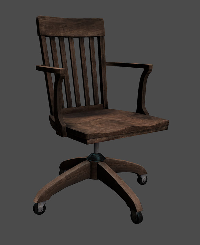 old office chair. Old Office Chair 3d Model