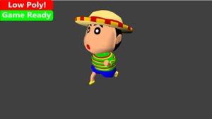 fbx shin chans rigged animation