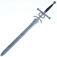 c4d medieval sword executor