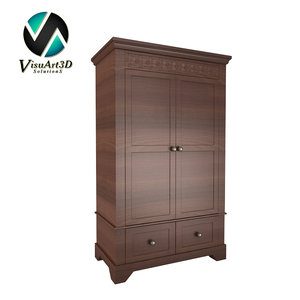 3d armoire cabinet furniture model