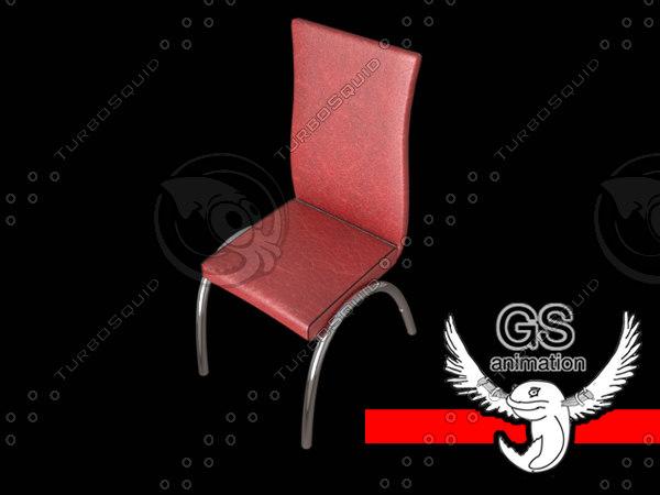 3d elegant dining chair model