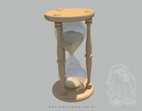 hourglass sand particle obj free
