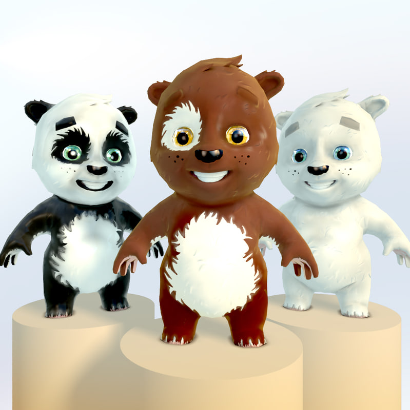 bears 3d model