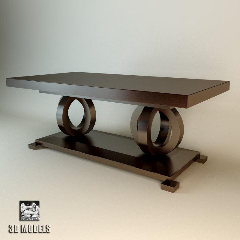selva dinner table 3d model