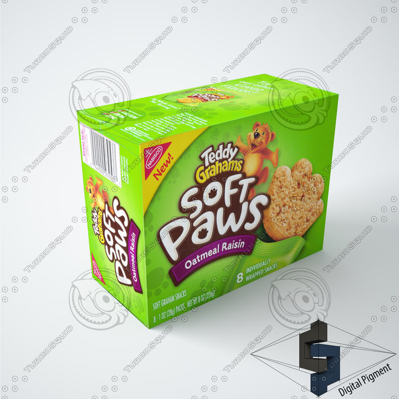 3d box grocery model