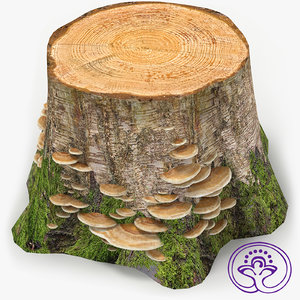 stump mushrooms 3d 3ds