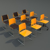 professional chairs 3d model