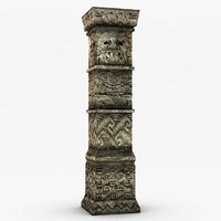 3d model ancient stone column