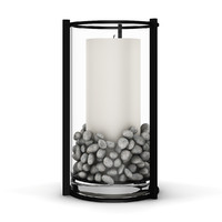white candle glass 3d model