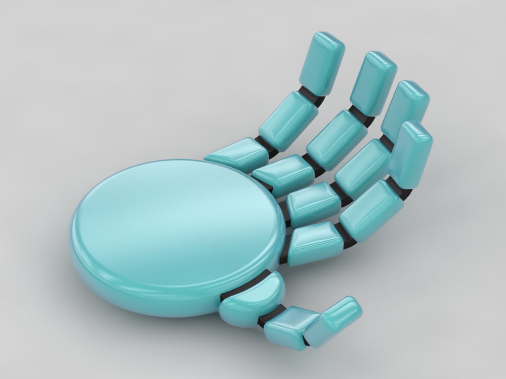 animation rigged hand 3ds