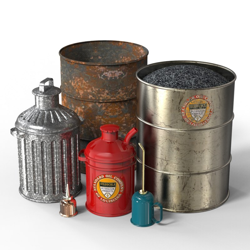 gas oil cans trash 3ds