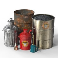 Gas, Oil and Trash Can (Collection)