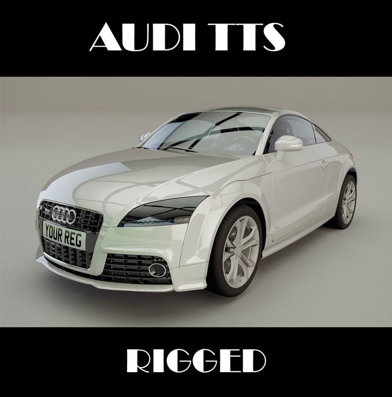 3d model audi tts rigged
