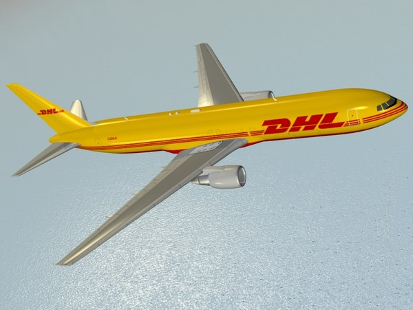3d b 767-300 er dhl model