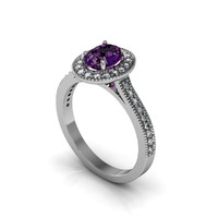 Precious Halo Diamond Ring