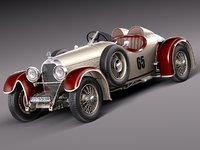 3d model car classic antique 1929
