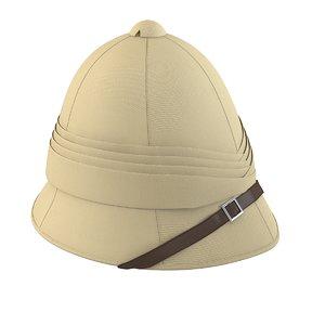 3d model of british pith helmet