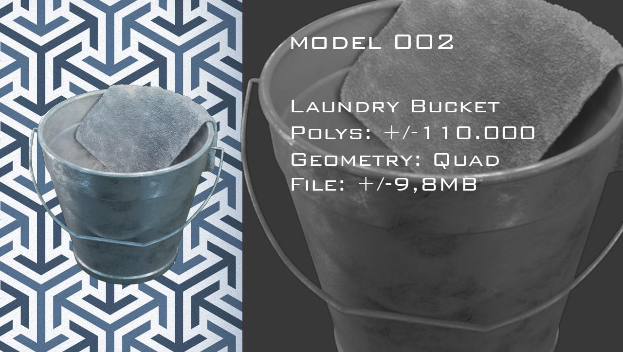 3d model of bucket