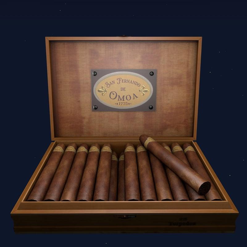 cuban cigars 3d model