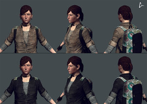female character 3d model
